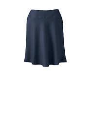 School Uniform Women's Solid Side Button Skirt Top of Knee