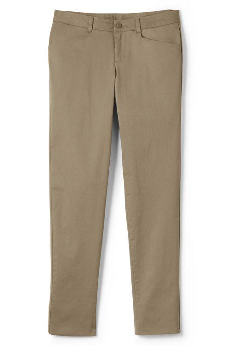 School Uniform Women's Woven Stretch Pencil Leg Chinos