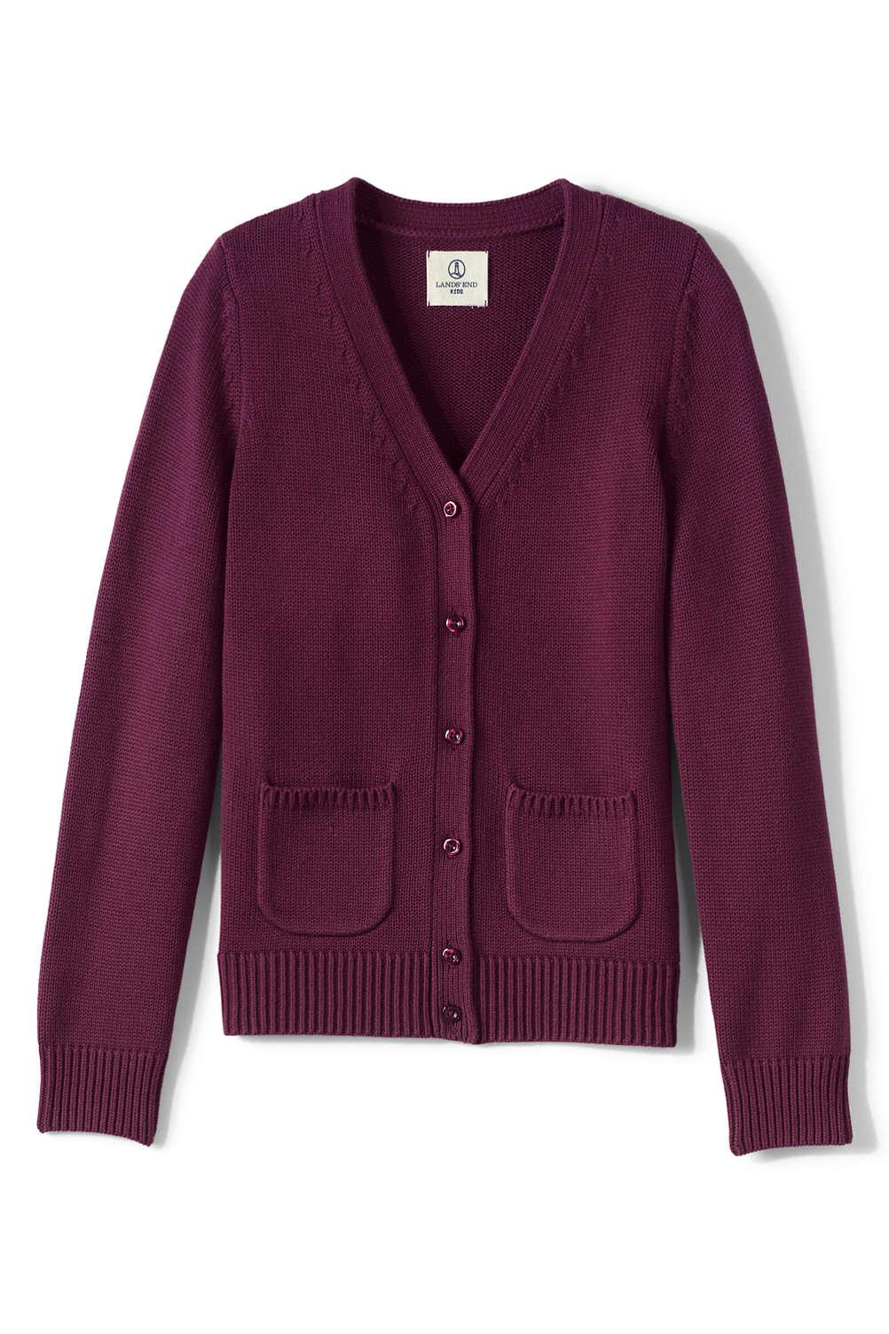 b54668946cb School Uniform Girls Cotton Modal Button Front Cardigan Sweater from ...