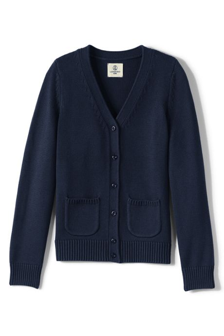 Girls Performance Button Front Cardigan