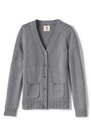 Girls Cotton Modal Button Front Cardigan Sweater