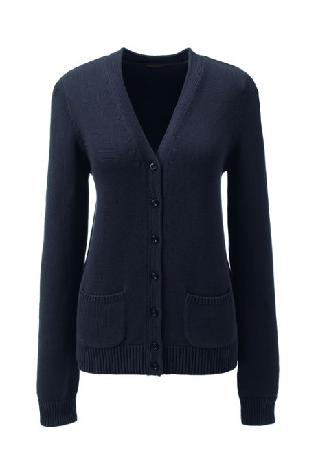 School Uniform Women's Performance Button Front Cardigan