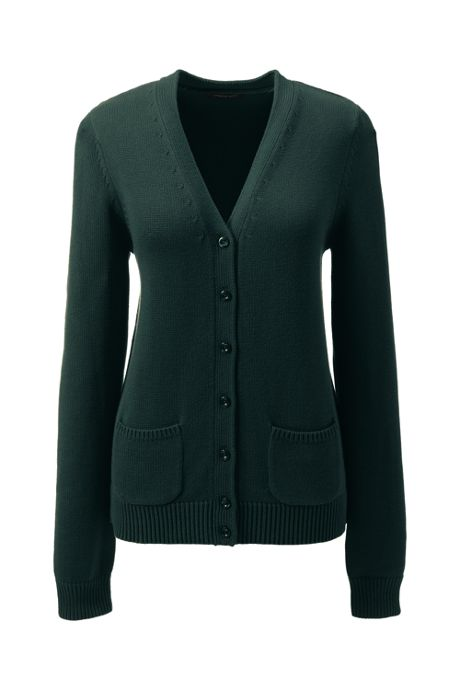 School Uniform Women's Cotton Modal Button Front Cardigan Sweater