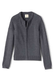 Girls Performance Zip-front Cardigan