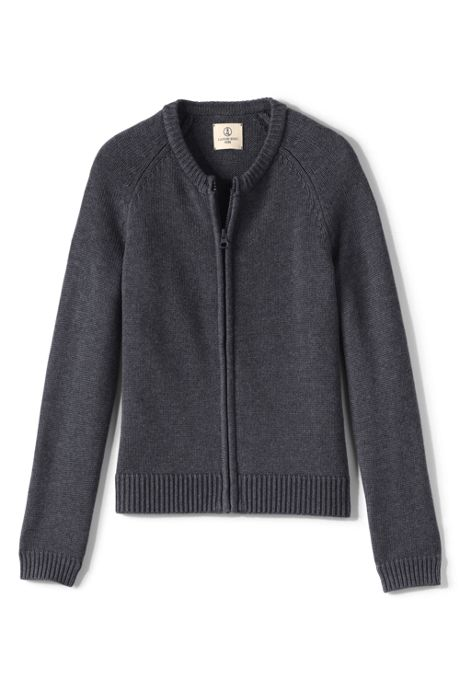 School Uniform Girls Performance Zip-front Cardigan
