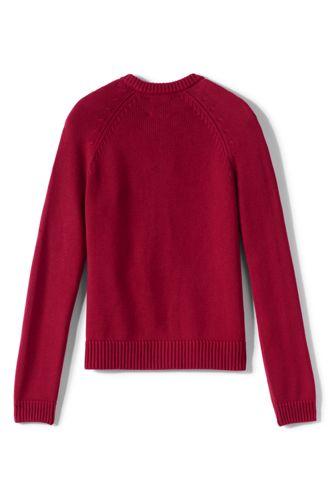 School Uniform Girls Cotton Modal Zip-front Cardigan Sweater