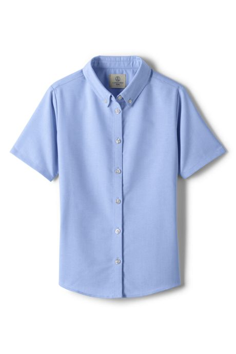 Girls Short Sleeve Oxford Dress Shirt