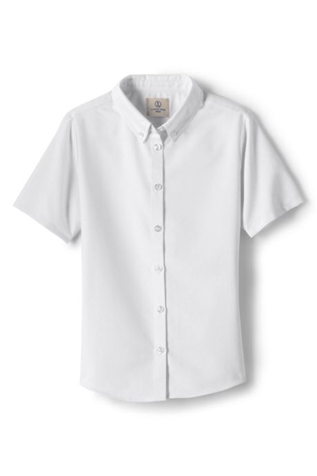 School Uniform Girls Short Sleeve Oxford Dress Shirt