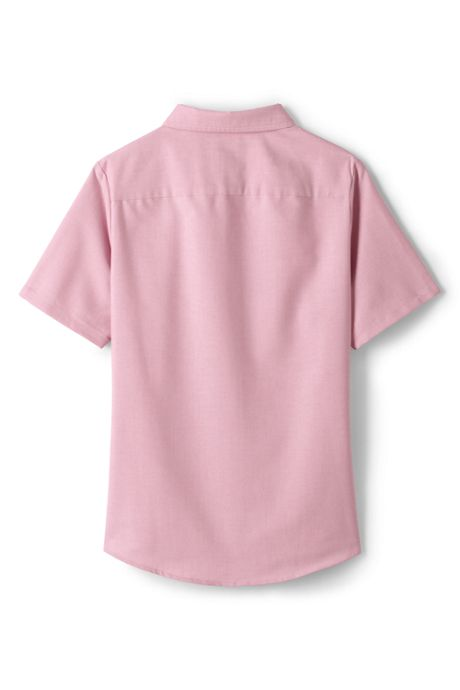 Little Girls Short Sleeve Oxford