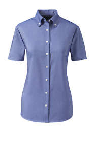 School Uniform Women's Short Sleeve Oxford Dress Shirt