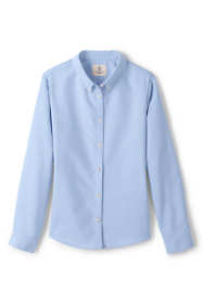 School Uniform Little Girls Long Sleeve Oxford