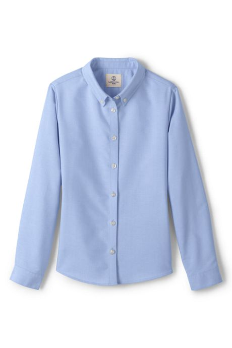 School Uniform Women's Long Sleeve Oxford Dress Shirt