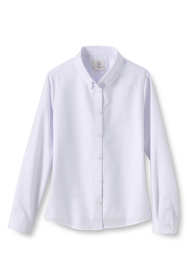 Girls Long Sleeve Oxford Dress Shirt