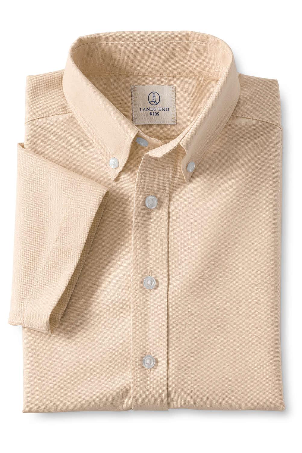 5ae97642b304 School Uniform Boys Short Sleeve Oxford Shirt from Lands  End
