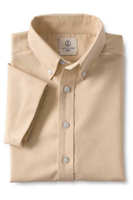 School Uniform Boys Short Sleeve Oxford Shirt