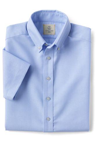 <ランズエンド> ボーイズ・オックスフォード・シャツ/半袖/150/ブルー