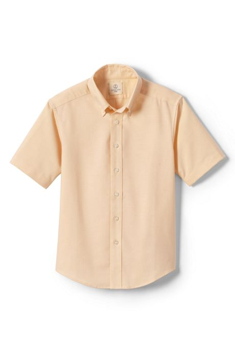 School Uniform Little Boys Short Sleeve Oxford Shirt