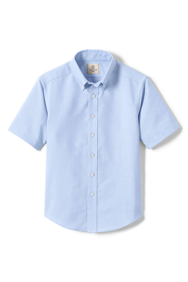 Boys Husky Short Sleeve Oxford Dress Shirt, Front