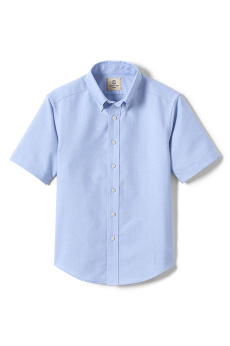 School Uniform Little Boys Short Sleeve Oxford Dress Shirt