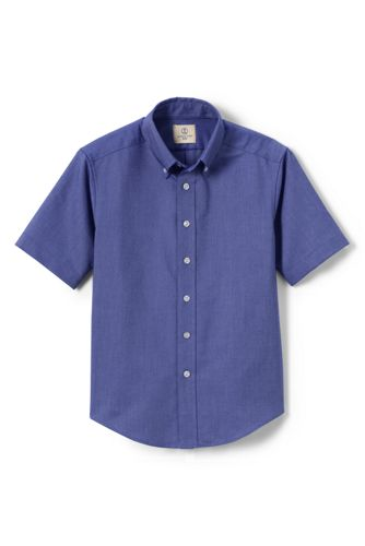 Boys Short Sleeve Oxford Dress Shirt