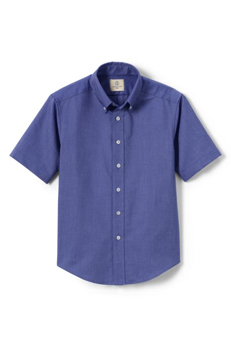 Boys Husky Short Sleeve Oxford Shirt
