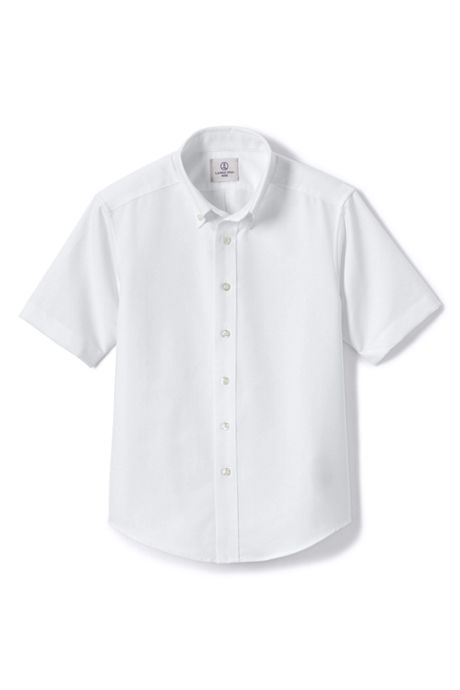 Boys Husky Short Sleeve Oxford Dress Shirt