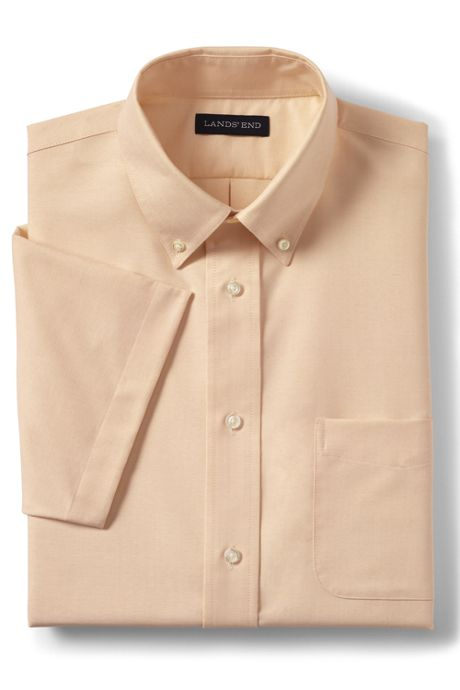 School Uniform Men's Short Sleeve Oxford Dress Shirt