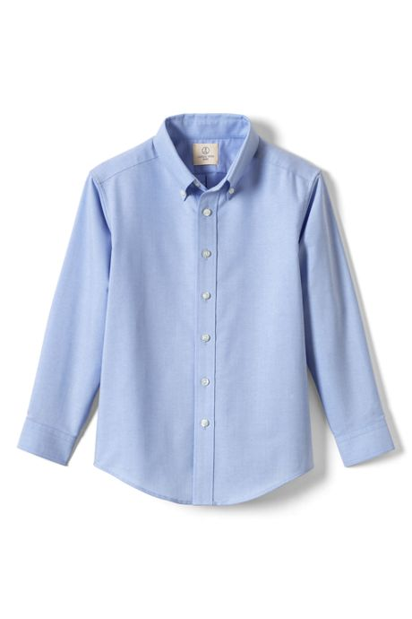 School Uniform Little Boys Long Sleeve Oxford Dress Shirt