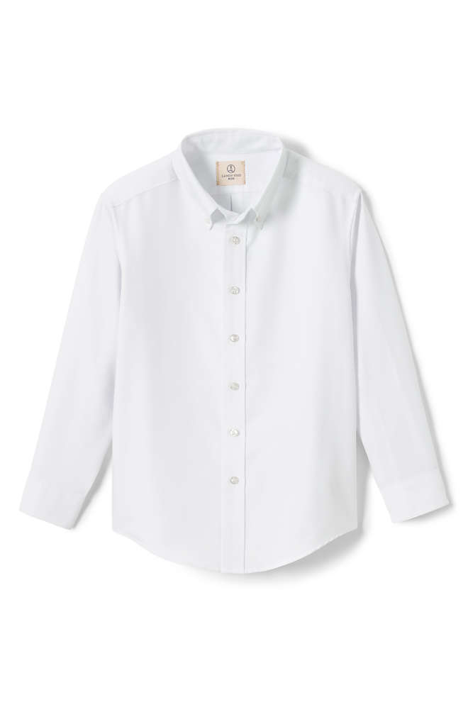 Boys Long Sleeve Oxford Dress Shirt, Front