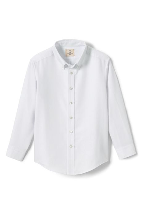 School Uniform Boys Long Sleeve Oxford Dress Shirt