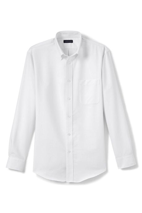 School Uniform Men's Tall Long Sleeve Oxford Dress Shirt