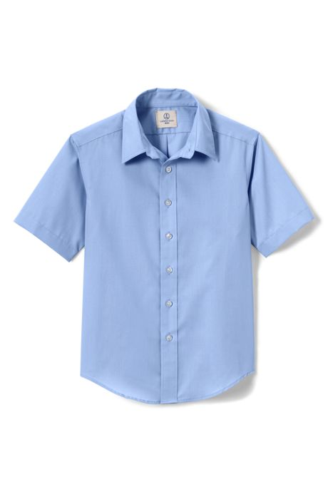 School Uniform Little Boys Short Sleeve Perfect Dress Shirt