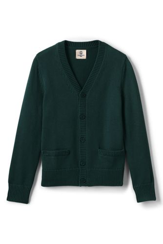 Boys' Performance Button Front Cardigan Sweater - Evergreen