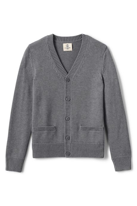Boys Performance Button Front Cardigan Sweater