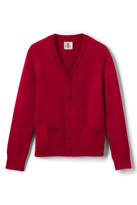 School Uniform Boys Cotton Modal Button Front Cardigan Sweater