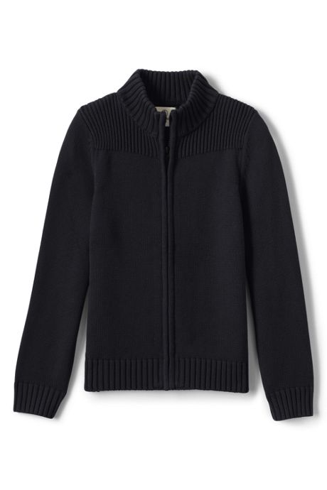Little Boys Performance Zip-front Cardigan