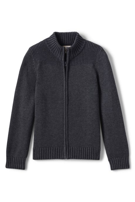 Boys Performance Zip-front Cardigan