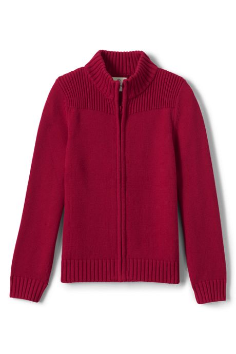 Little Boys Cotton Modal Zip Front Cardigan Sweater
