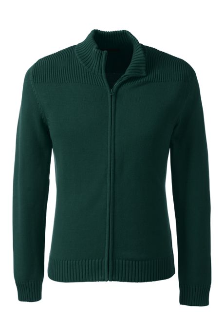 School Uniform Men's Performance Zip-front Cardigan