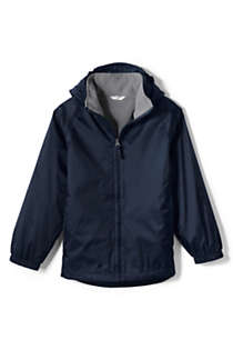 School Uniform Little Kids Fleece Lined Rain Jacket, Front