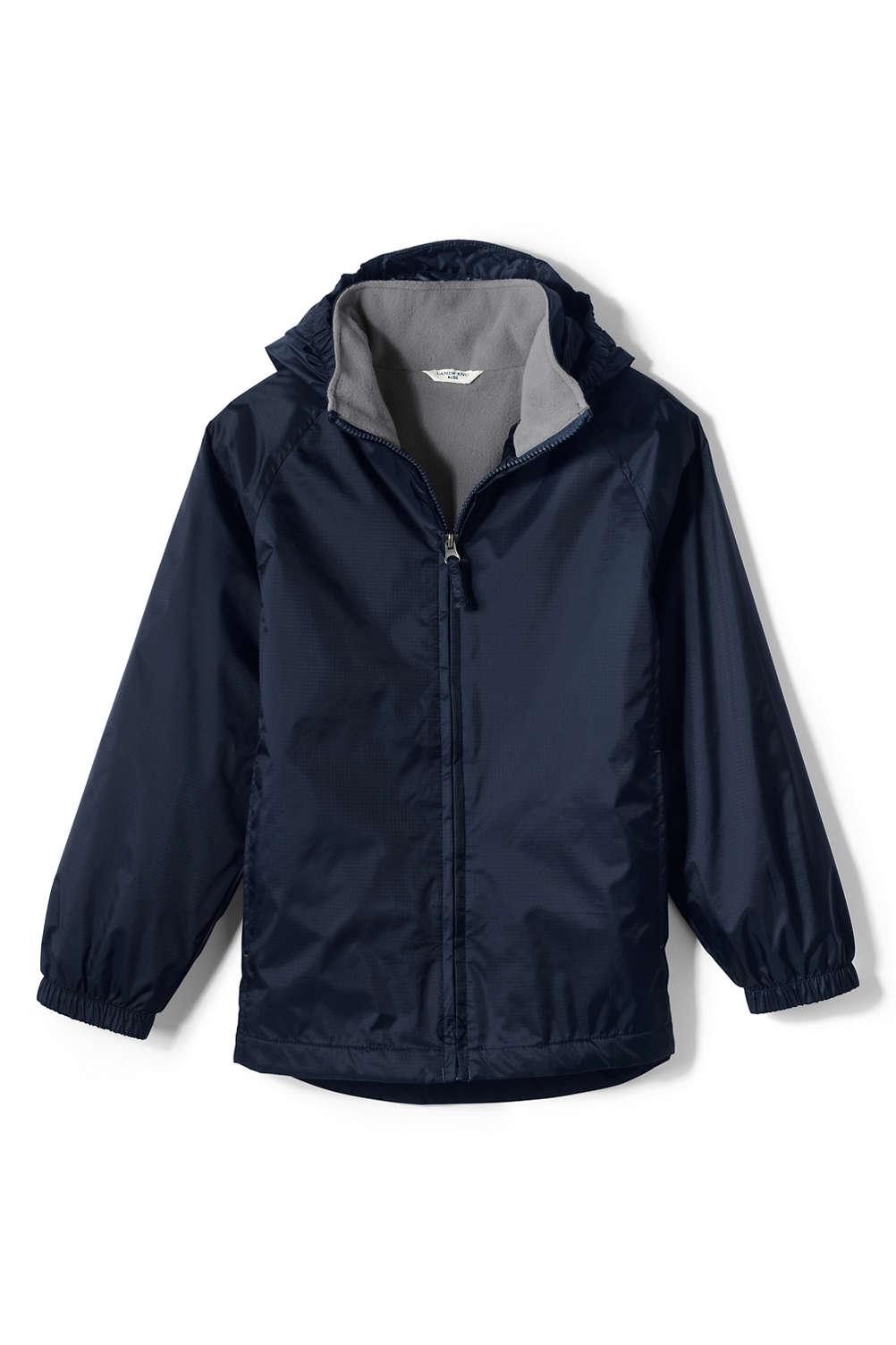 e6aeb38f187e School Uniform Fleece Lined Rain Jacket from Lands  End