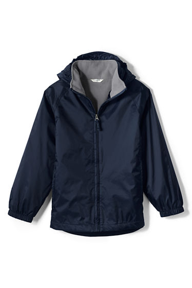 School Uniform Fleece Lined Rain Jacket from Lands' End