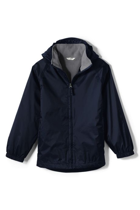 Big Kids Fleece Lined Rain Jacket