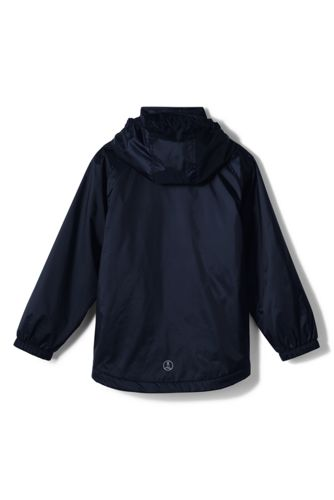 School Uniform Men's Fleece Lined Rain Jacket
