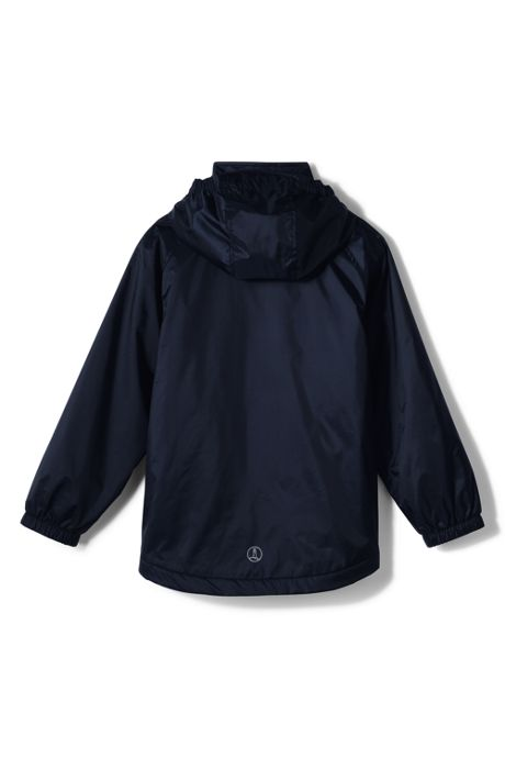 School Uniform Big Kids Fleece Lined Rain Jacket
