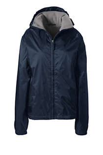 School Uniform Women's Fleece Lined Rain Jacket, Front