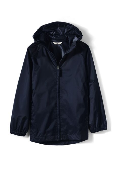 School Uniform Big Kids Packable Rain Jacket