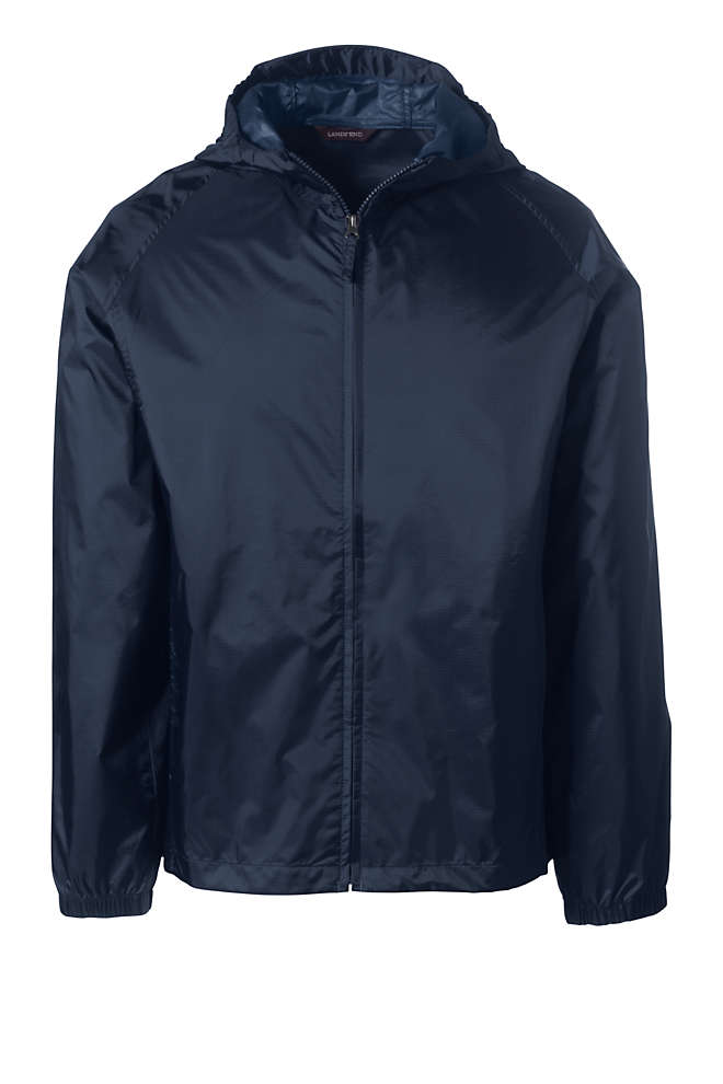 Men's Packable Rain Jacket, Front