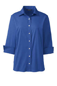 Women's Plus Size 3/4 Sleeve Flip Cuff Stretch Shirt