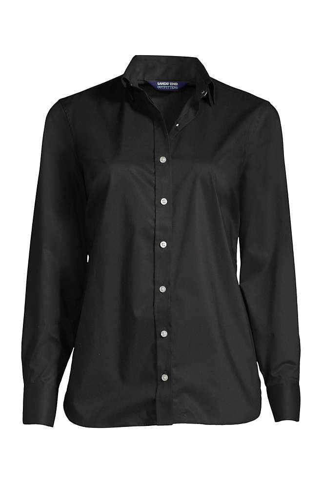 School Uniform Women's Petite No Gape Stretch Shirt, Front